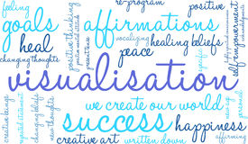 Visualisation Word Cloud Royalty Free Stock Images
