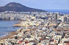 Visualisez au-dessus des cityLas Palmas de Gran Canaria photographie stock libre de droits