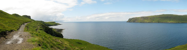 Visualisez de Rubh un Dunain, île de Skye photographie stock
