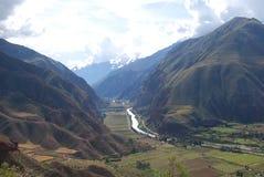 Visualisez la vallée sacrée des Inca Photographie stock