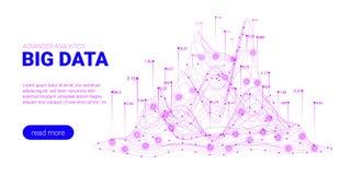 Visualização da análise de Big Data Página da aterrissagem ilustração royalty free
