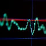Visualização da tela de uma onda Imagens de Stock