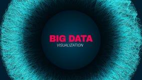 Visualização futurista dos dados grandes abstratos ilustração stock