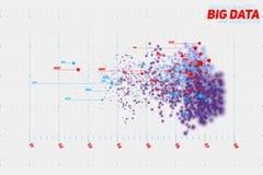 Visualização grande colorido abstrato do lote do ponto de dados do vetor Projeto futurista do infographics ilustração royalty free