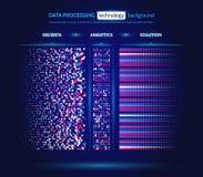 Visualização grande dos dados Conceito da analítica da informação Informação abstrata do córrego Algoritmos de filtração da máqui Fotografia de Stock