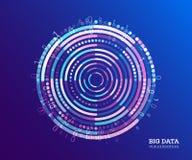 Visualização grande dos dados Fundo abstrato com Dots Array e ilustração stock