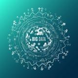 Visualização grande dos dados Fundo abstrato com Dots Array e ilustração royalty free