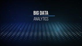 Visualização grande dos dados Fundo 3D Fundo grande da conexão de dados Rede do fio da tecnologia do Ai da tecnologia do Cyber fu Imagem de Stock