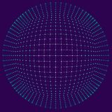 Visualização grande dos dados Fundo 3D Fundo grande da conexão de dados Rede do fio da tecnologia do Ai da tecnologia do Cyber fu Fotografia de Stock Royalty Free