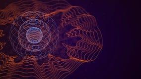 Visualiza??o grande dos dados Conceito do visual da disposi??o de dados abstraia o fundo Visualiza??o dos dados da anal?tica rend ilustração do vetor