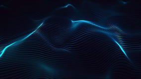 Visualización, abstracción, ondas futuristas, río, digital stock de ilustración
