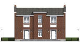 Visualización arquitectónica de residencial privado clásico Imagen de archivo