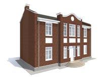 Visualización arquitectónica de residencial privado clásico Imágenes de archivo libres de regalías