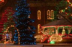 Visualización cívica de la Navidad Imágenes de archivo libres de regalías