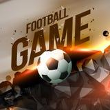 Visualización creativa abstracta del partido de fútbol Fotos de archivo