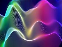 visualización 3D de ondas acústicas Concepto grande de los datos o de la información: Carta multicolora ilustración del vector