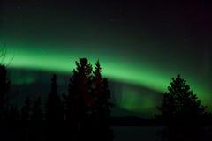 Visualización de Borealis de la aurora (luces norteñas) Imagenes de archivo