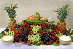 Visualización de frutas Foto de archivo libre de regalías