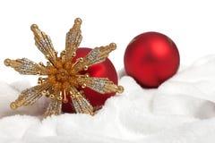 Visualización de la decoración de la Navidad Imágenes de archivo libres de regalías