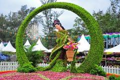 Visualización de la demostración de flor de Hong-Kong 2012 Fotografía de archivo
