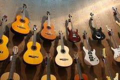 Visualización de la guitarra imagen de archivo libre de regalías
