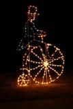 Visualización de la luz de la Navidad Fotos de archivo libres de regalías
