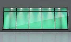 Visualización de la ventana del departamento Foto de archivo