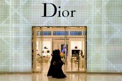 Visualización de la ventana del departamento de Dior fotografía de archivo libre de regalías