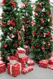 Visualización de las decoraciones de la Navidad Foto de archivo