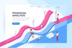 Visualización de las finanzas y base de datos del análisis stock de ilustración