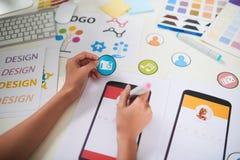 Visualización de las ideas creativas del negocio fotografía de archivo libre de regalías