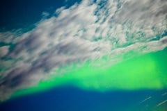 Visualización de los borealis de la aurora (luces norteñas) Foto de archivo libre de regalías