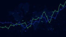 Visualización de los datos del analytics de Digitaces, horario financiero, tablero de instrumentos del vector stock de ilustración