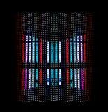 Visualización de los diodos electroluminosos (LED) Imágenes de archivo libres de regalías