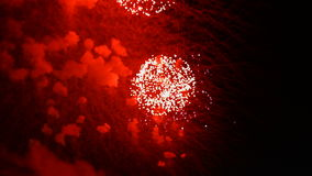 Visualización de los fuegos artificiales almacen de video