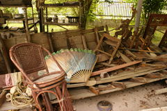 Visualización de los restos del tsunami Imagen de archivo