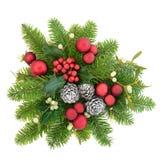 Visualización decorativa de la Navidad Foto de archivo libre de regalías