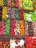 Visualización del almacén de caramelo Fotografía de archivo libre de regalías