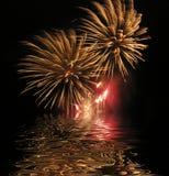 Visualización del fuego artificial Fotos de archivo libres de regalías