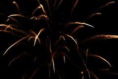 Visualización del fuego artificial Fotografía de archivo libre de regalías