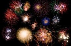 Visualización del fuego artificial Imagen de archivo libre de regalías