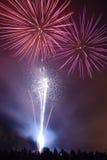 Visualización del fuego artificial Foto de archivo