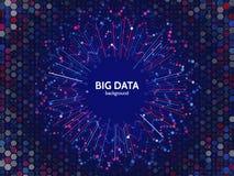 Visualización del gráfico de los datos complejos Analytics futurista del negocio Foto de archivo