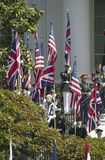 Visualización del indicador británico de Union Jack Fotografía de archivo