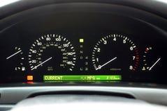Visualización del Speedo del coche Foto de archivo libre de regalías