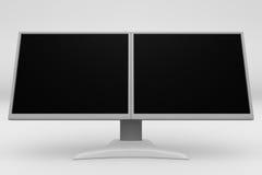Visualización dual 08 del LCD Fotografía de archivo libre de regalías