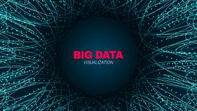 Visualización futurista de los datos grandes abstractos libre illustration