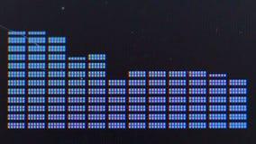 Visualización gráfica del equalizador almacen de video