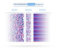 Visualización grande de los datos Concepto del analytics de la información Extracto Foto de archivo libre de regalías