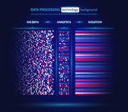 Visualización grande de los datos Concepto del analytics de la información Información abstracta de la corriente Algoritmos de fi Fotografía de archivo
